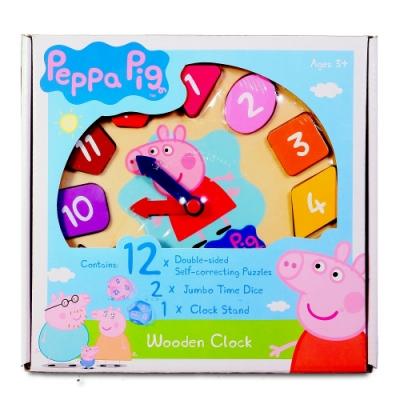 粉紅豬小妹 PEPPA PIG 木頭時鐘遊戲組 木製