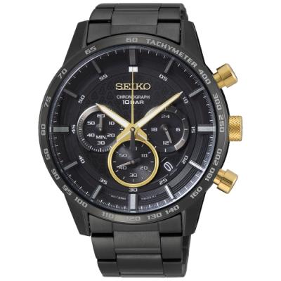 SEIKO精工 CS50週年紀念 三眼計時手錶(SSB363P1)