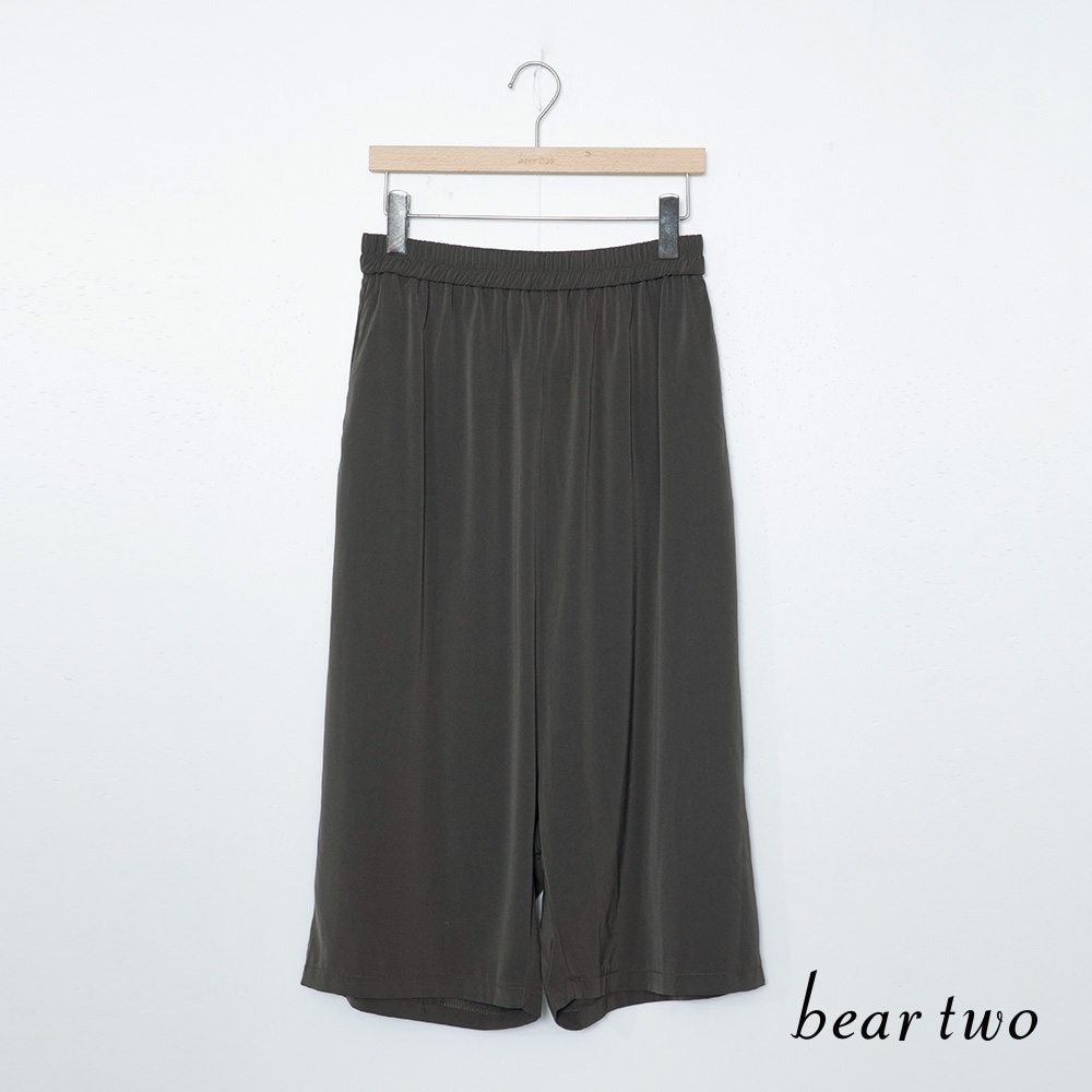 beartwo 飄逸寬褲-深灰