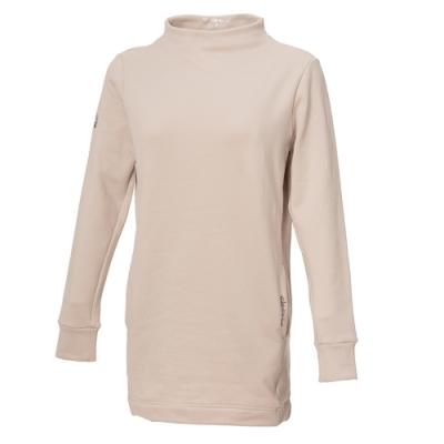【WILDLAND荒野】女彈性長版時尚保暖上衣白色