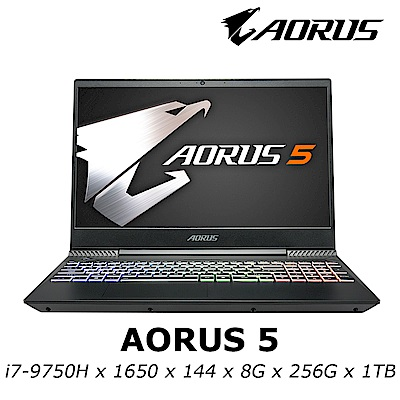 AORUS 5 電競筆電 i7-9750H / GTX1650