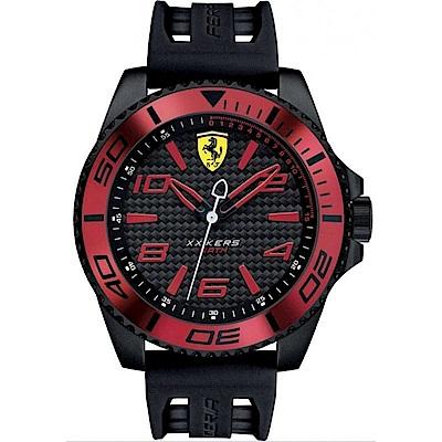 FERRARI 法拉利決定速度運動腕錶/紅/FA0830306