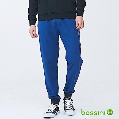 bossini男裝-休閒針織長褲05海藍