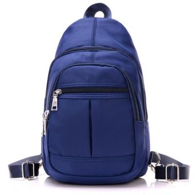 I.Dear-男女休閒可水洗尼龍拉鍊3way胸背包雙肩後背包(BG74藍色)