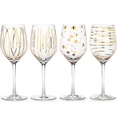 《CreativeTops》金黃紋飾白酒杯4件(414ml)