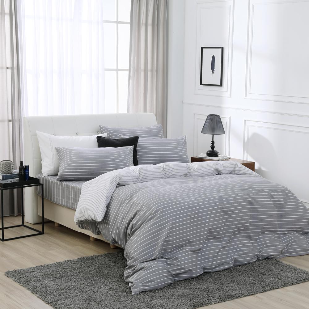 鴻宇 100%精梳棉 巴洛克 雙人加大床包枕套三件組