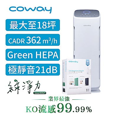 Coway 14-18坪 綠淨力直立式空氣清淨機 AP-1216L 送2年份濾網組