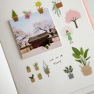 Dailylike 日日美好裝飾透明貼紙-26植物