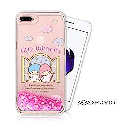 三麗鷗 雙子星 iPhone 7/8 Plus 亮片流沙手機軟殼 - 美麗天堂
