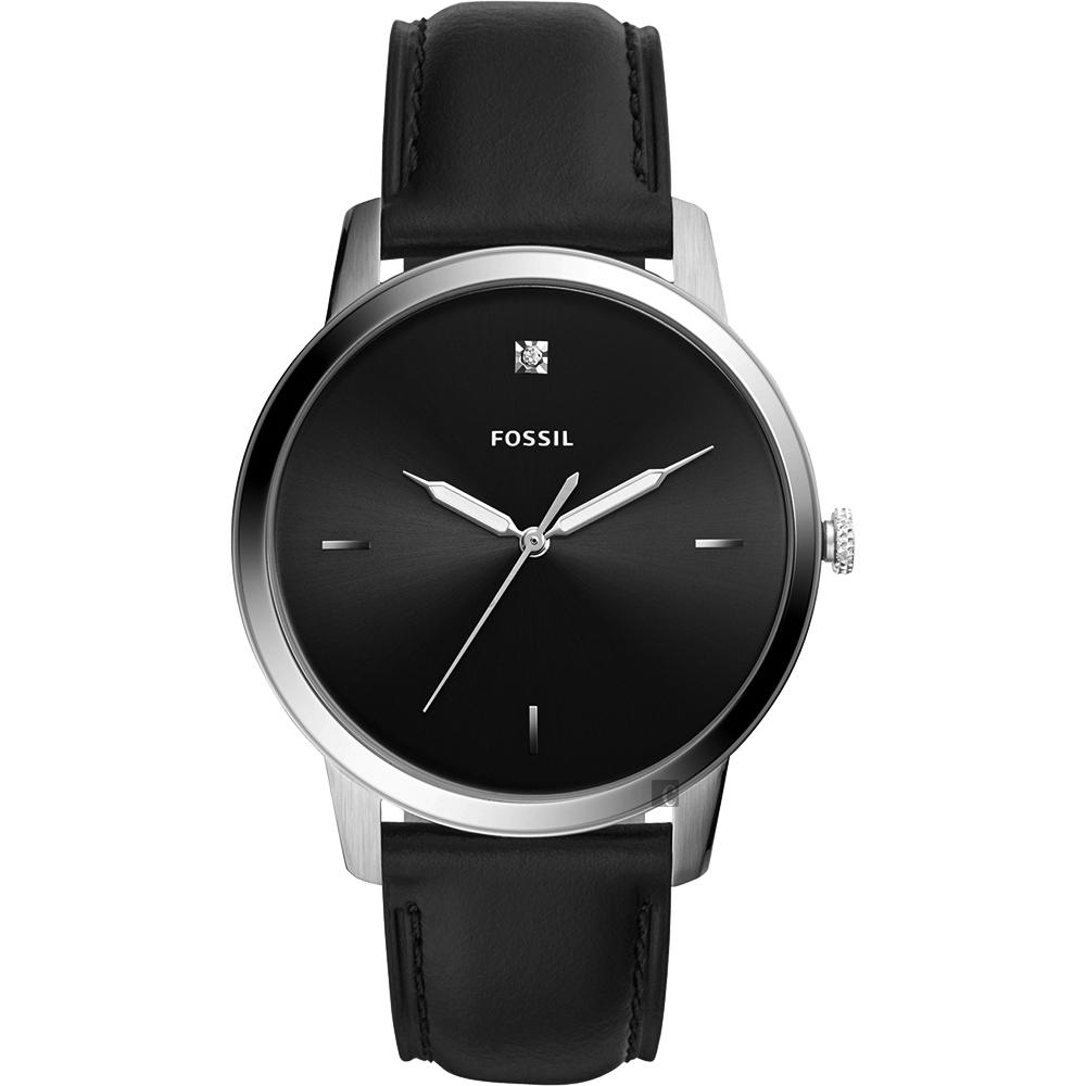 FOSSIL Minimalist 薄型簡約手錶-黑/44mm FS5497