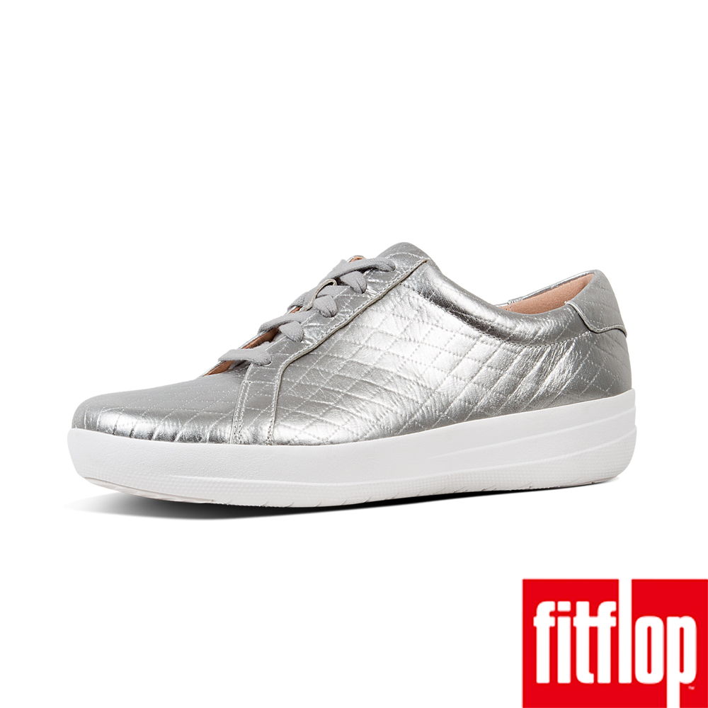 FitFlop F-SPORTY II QUILTED SNEAKERS-銀色