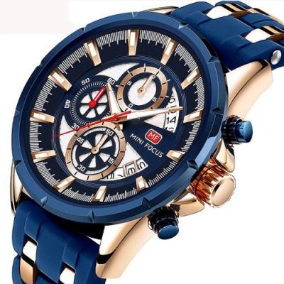 美國熊 大錶徑 運動賽車風格 男士真三眼計時 日期窗顯示 腕錶
