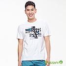 bossini男裝-印花短袖T恤19白
