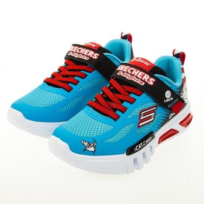 SKECHERS 男童系列 FLEX-GLOW - 蘇斯博士聯名款 燈鞋 - 406002LBLBK
