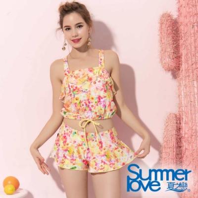 夏之戀SUMMERLOVE大女短版三件式泳衣