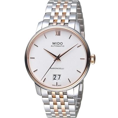 MIDO 美度 Baroncelli Big Date 永恆經典機械錶-M0274262201800/白40mm