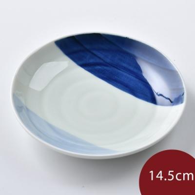 日本康創陶 和食器 前菜碟 藍深藍淺 14.5cm