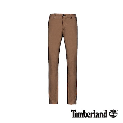 Timberland 男款駝色彈性斜紋布修身卡其褲|A1WAZ