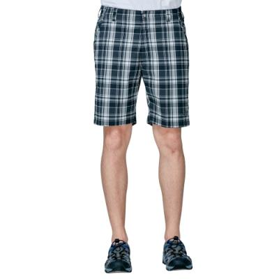 【Jack Wolfskin 飛狼】男 帥氣格紋五分褲『黑灰』