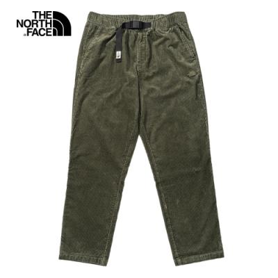 The North Face北面男款綠色燈芯絨休閒褲|4NET21L
