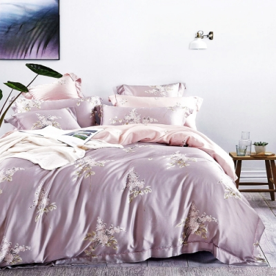 Saint Rose頂級精緻100%天絲床罩八件組(包覆高度35CM)-夢語 加大