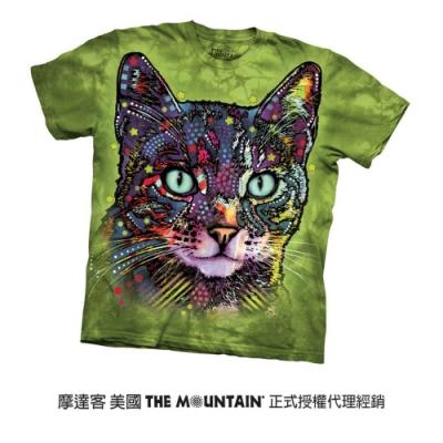摩達客(預購)美國進口The Mountain 彩繪小野貓 純棉環保短袖T恤