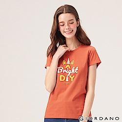 GIORDANO 女裝夢幻獨角獸系列印花T恤