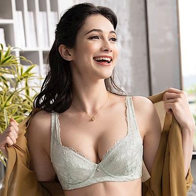 金華歌爾-閨蜜 BC大尺碼-DE75-85 罩杯內衣(綠)記形鋼圈