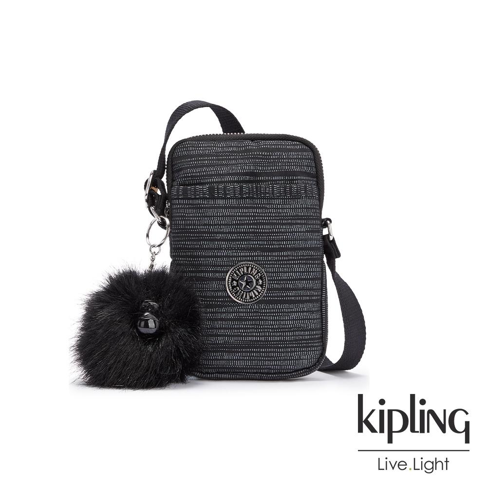 Kipling 沉穩十字條紋可愛長方形小包-TALLY