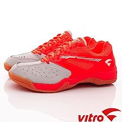 Vitro韓國專業運動品牌-SMASH-B羽球鞋-橘灰(男)_0