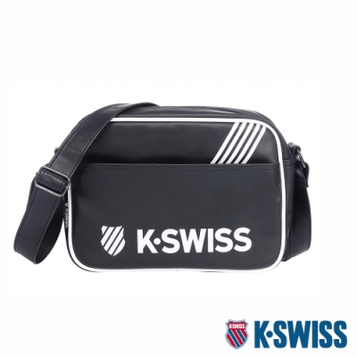 K-SWISS KS Pu Shoulder Bag休閒斜背包-黑