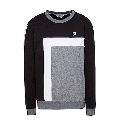 FILA 男款圓領T恤-黑 1TES-5401-BK