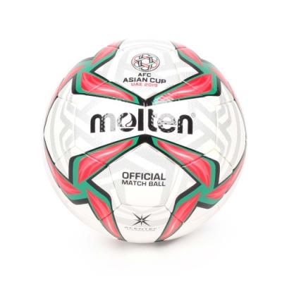 MOLTEN #5頂級合成皮足球 Molten 紅綠黑白銀