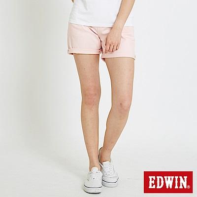 EDWIN MISS休閒基本短色褲-女-粉色