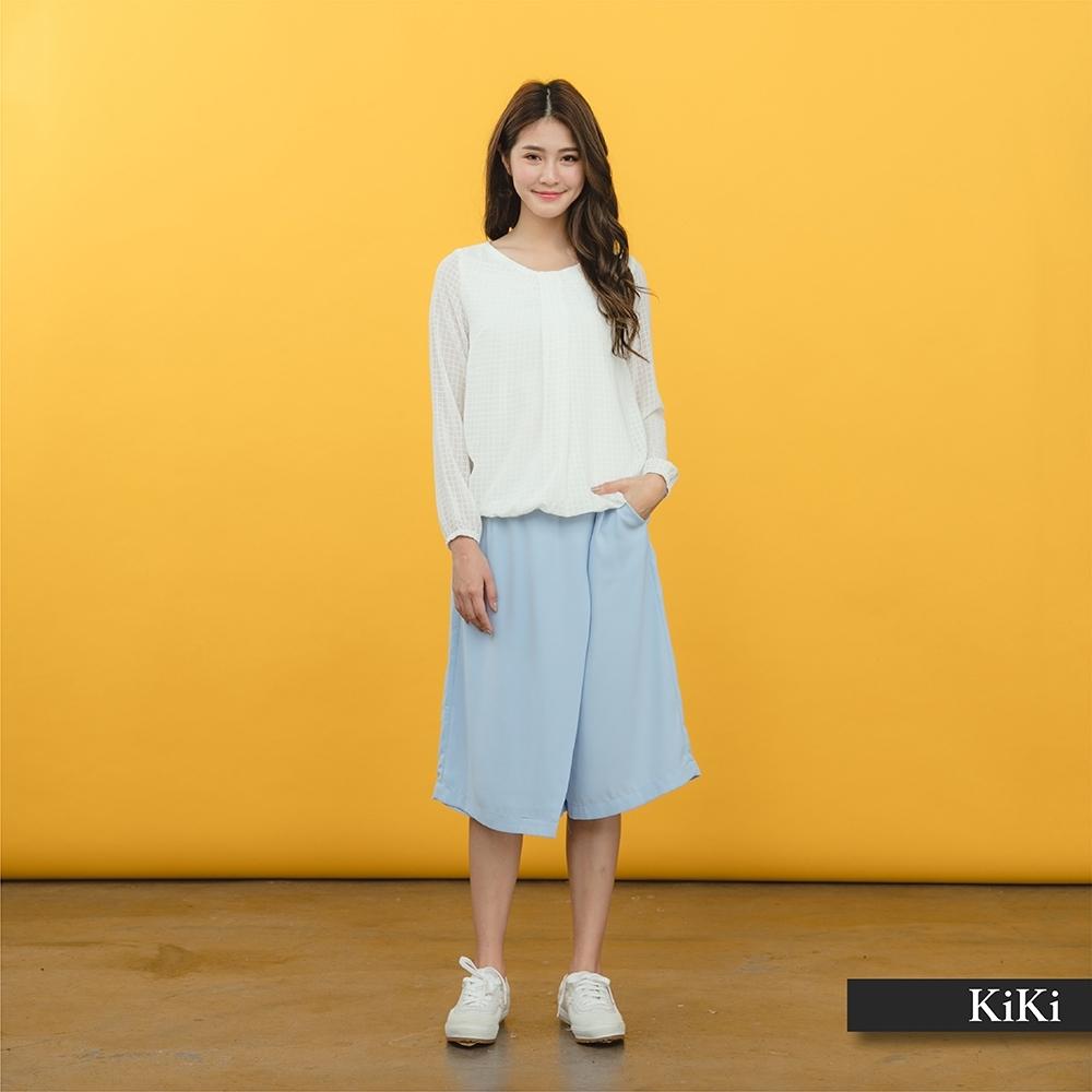 【KiKi】涼爽休閒-裙褲(二色)