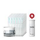 MediQOL安肌補水滋潤組(化妝水2mL30入+修護1號滋潤霜30g 贈潔膚粉3.5g)