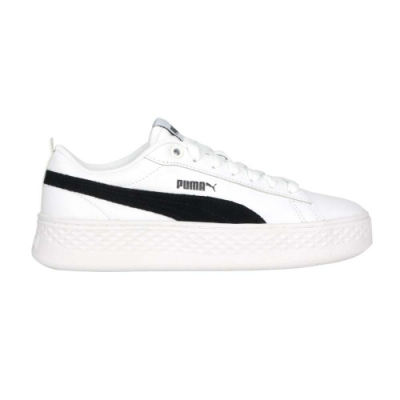 PUMA SMASH PLATFORM L 女運動休閒鞋-厚底鞋 板鞋 復古 36648712 白黑