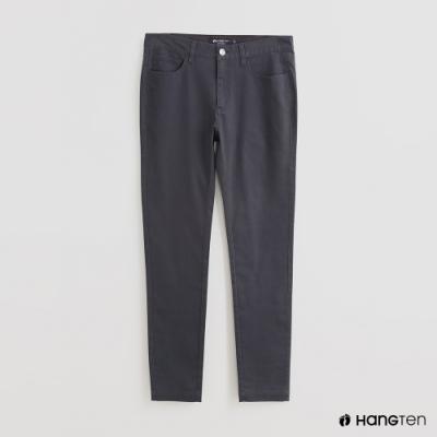 Hang Ten - 男裝 - 簡約素面修身休閒長褲 - 灰