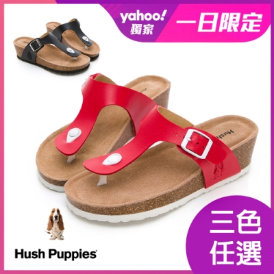 [時時樂限定] Hush Puppies Schnauzer 減壓夾腳拖 三色任選