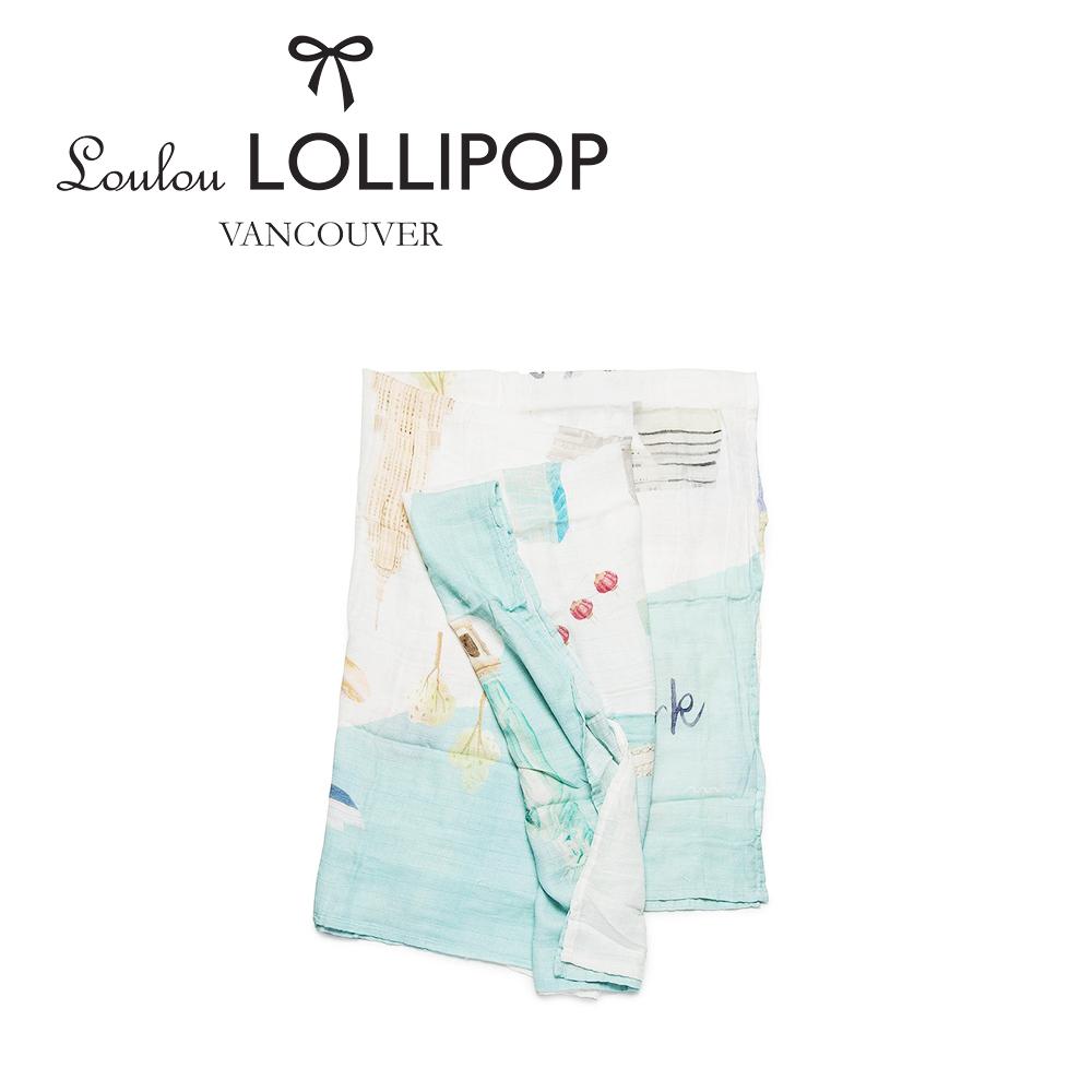 加拿大Loulou lollipop 竹纖維透氣包巾120x120cm-美國紐約