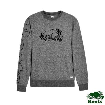 男裝Roots-Script圓領上衣-灰色