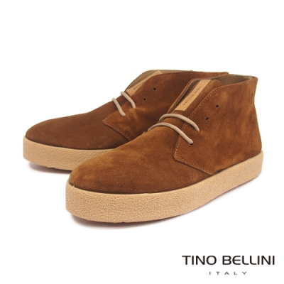 Tino Bellini西班牙進口牛麂皮厚底休閒短靴_棕