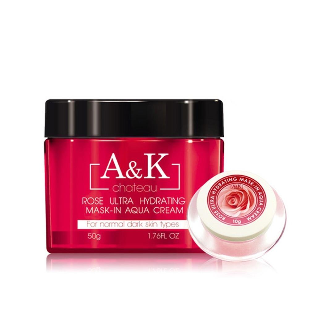 (買大送小) A&K亞珂夏都 月玫瑰燦白精粹凝膜 50g 再贈 月玫瑰凝膜 10g乙瓶