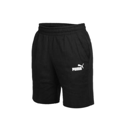 PUMA 男 基本系列棉質短褲 黑白