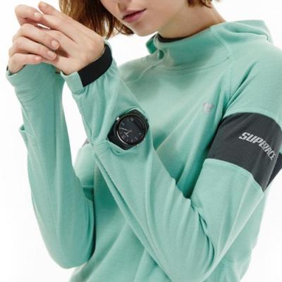 SUPERACE THOT機能棉質帽TEE / 女款 / 湖水綠