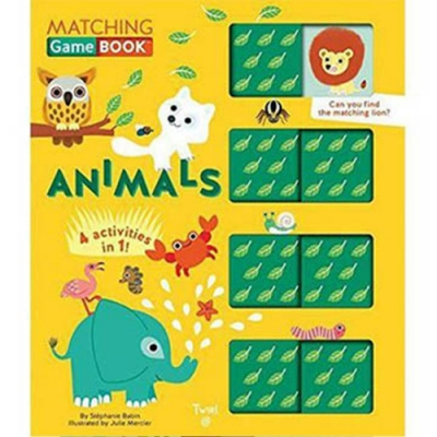 Matching Game Book:Animals 動物配對遊戲書