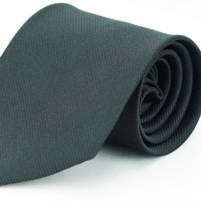 Alpaca 黑色細斜紋領帶