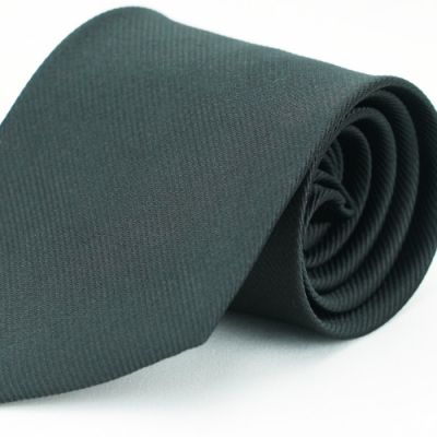 Alpaca 黑色細斜紋領帶fast