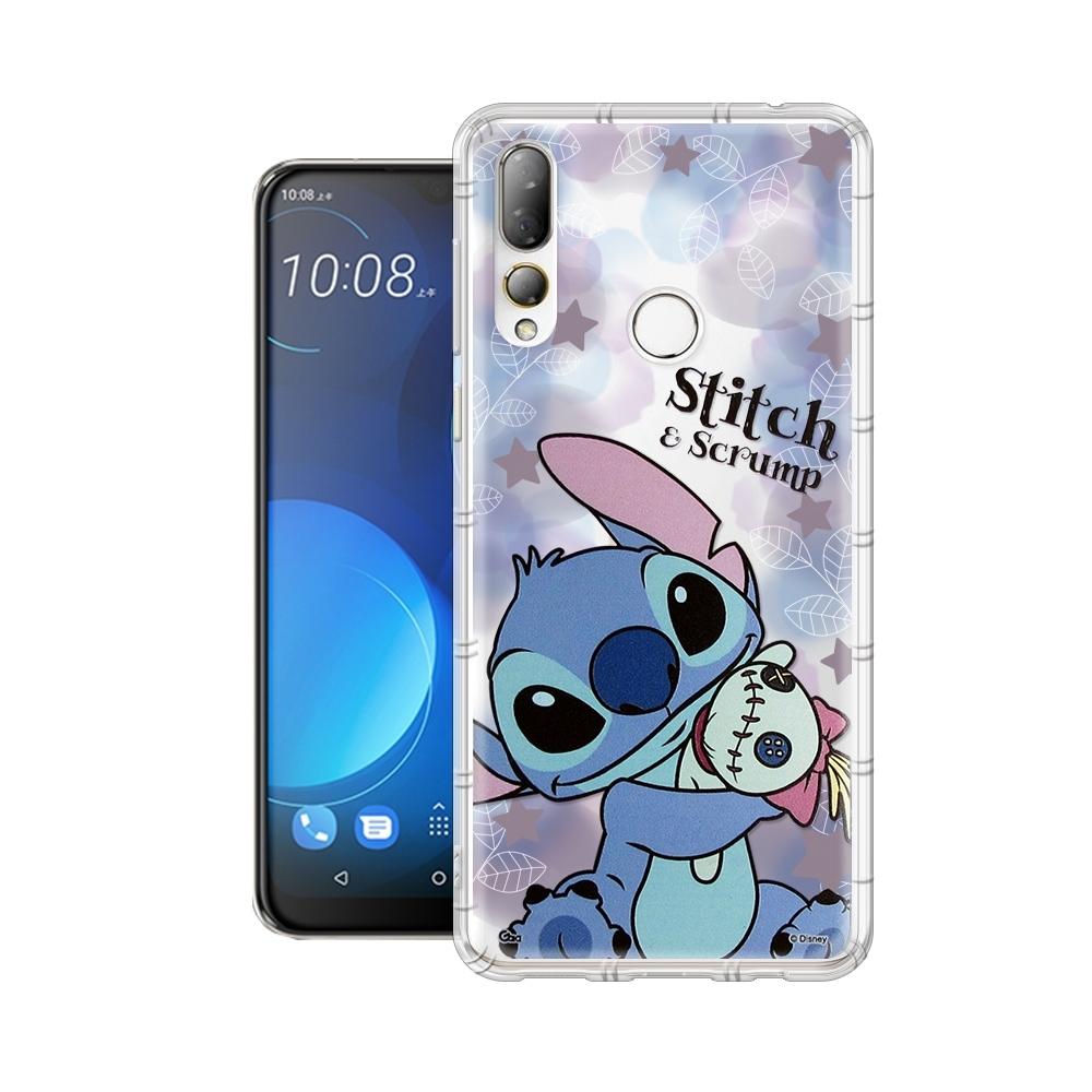迪士尼授權正版 HTC Desire 19s/19+ 共用款 繽紛空壓安全手機殼(史迪奇)
