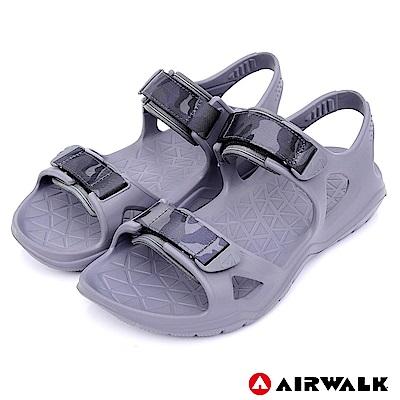 【AIRWALK】減壓緩震輕量休閒涼鞋-灰色
